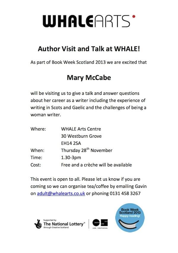 Mary McCabe talk flyer