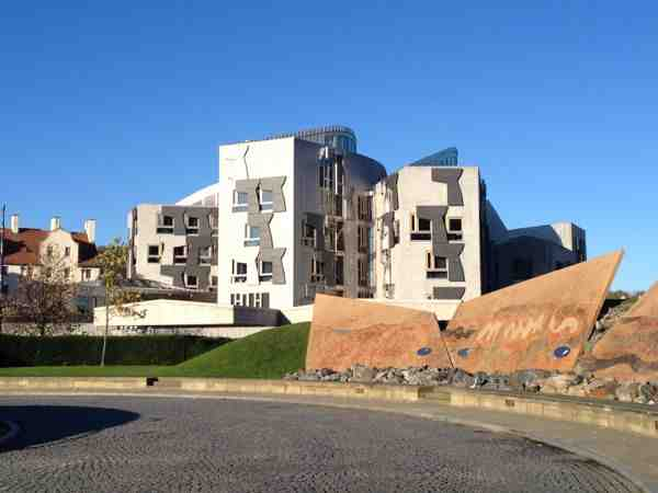 TER Holyrood-blue-sky-parliament- scottish government