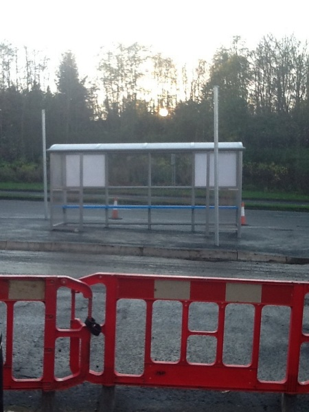 Wester Hailes Healthy Living Centre Bus Stop works