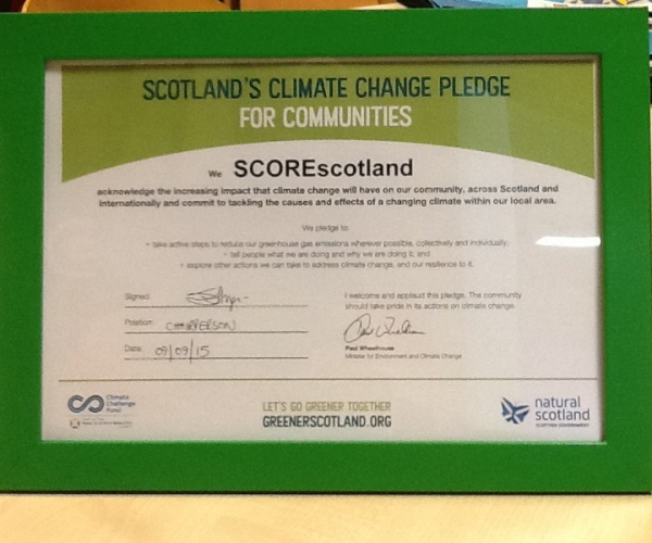 SCOREScotland award pledge environment