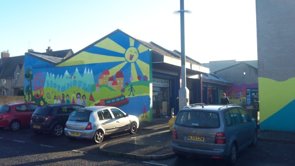 Broomhouse mural Market Street Fruit and Veg Shop