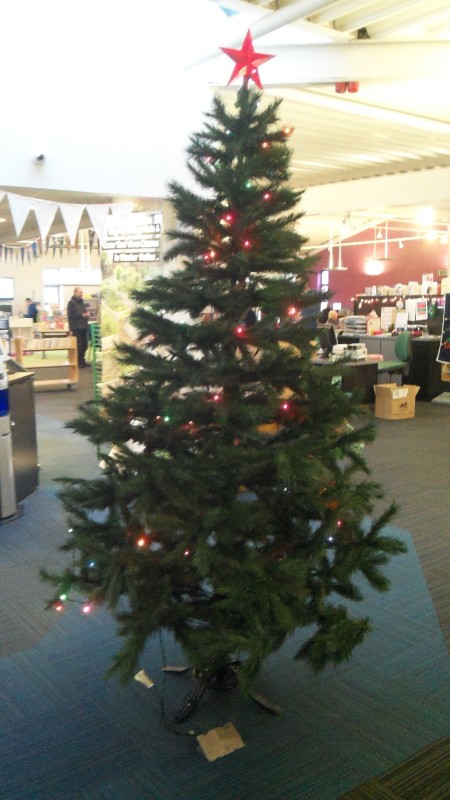 Christmas tree wester hailes library