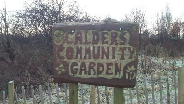 Sign Winter Calders Community Garden Gardeners