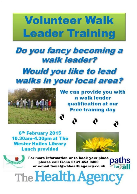 health agency walk leader training poster