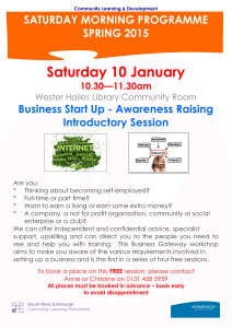Business Start Up - Awareness Raising Introductory Session 10.01.2015.pub-1
