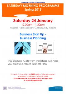 Business Start Up -Business Planning 24.01.2015-1