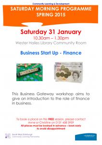 Business Start Up -Finance  31 January 2015-1