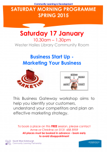 Business Start Up - Marketing your Business  17.01.2015-1