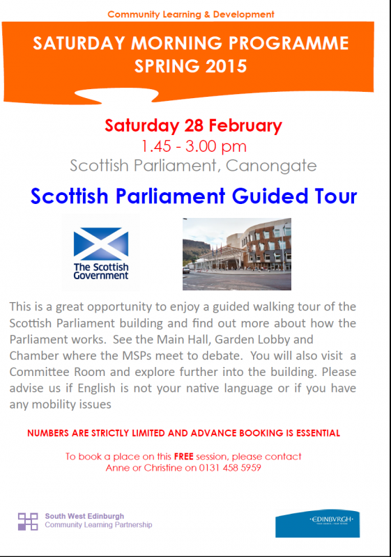 parliament guided tour