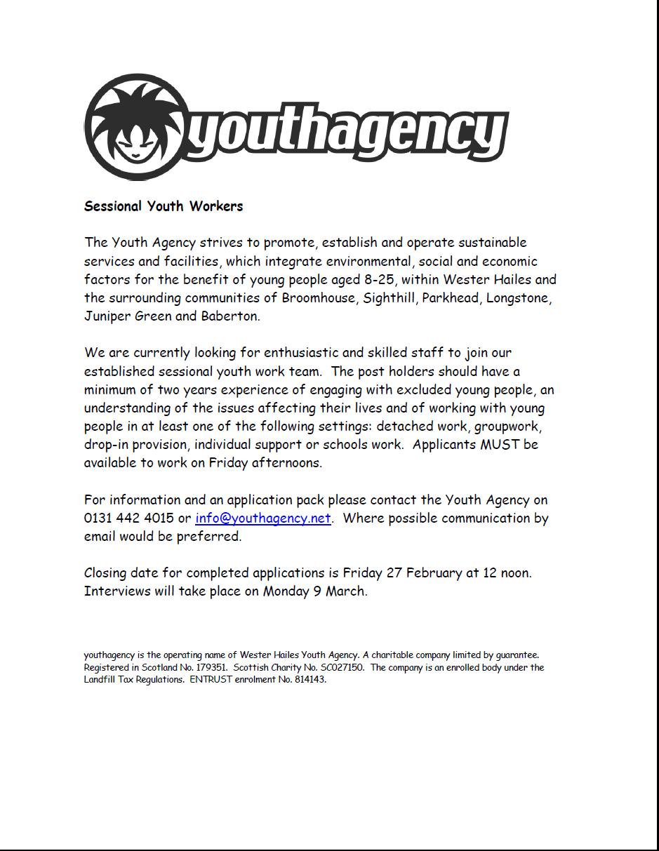youth agency job
