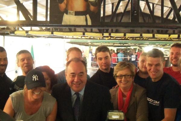 Clovenstone Amateur Boxing Club Alex Salmond SNP
