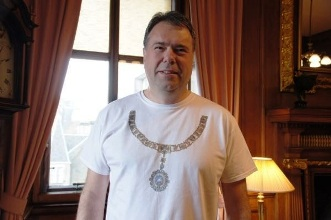Lord Provost in running gear