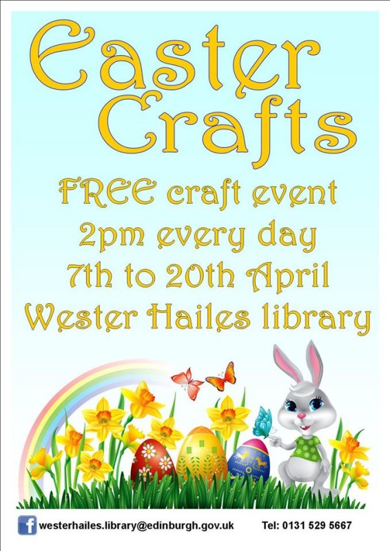 wester hailes library easter crafts