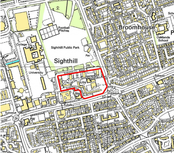 Map taken from Council Report on development.