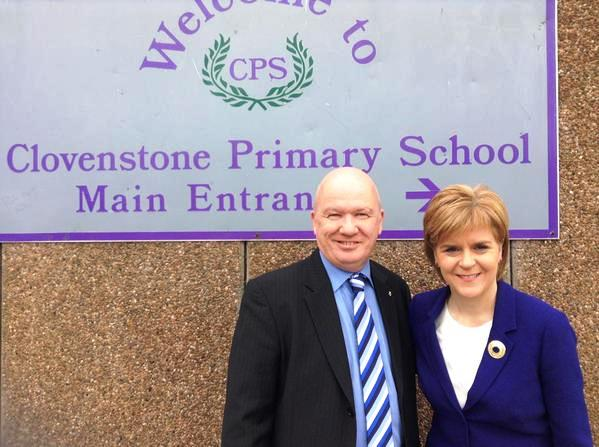 Clovenstone Primary gordon macdonald nicola sturgeon