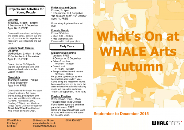 What's On Autumn 2015-Outside-1