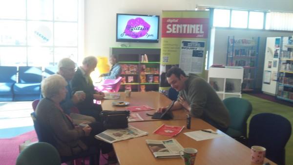 wester hailes library digital sentinel pop up desk