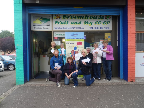 Left to right back row; Val, Nancy, Frances Sinclair, Liz, Maureen, Left to right front row; Alan, Jackie, Stacey.
