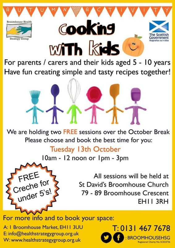 cooking with kids october broomhouse