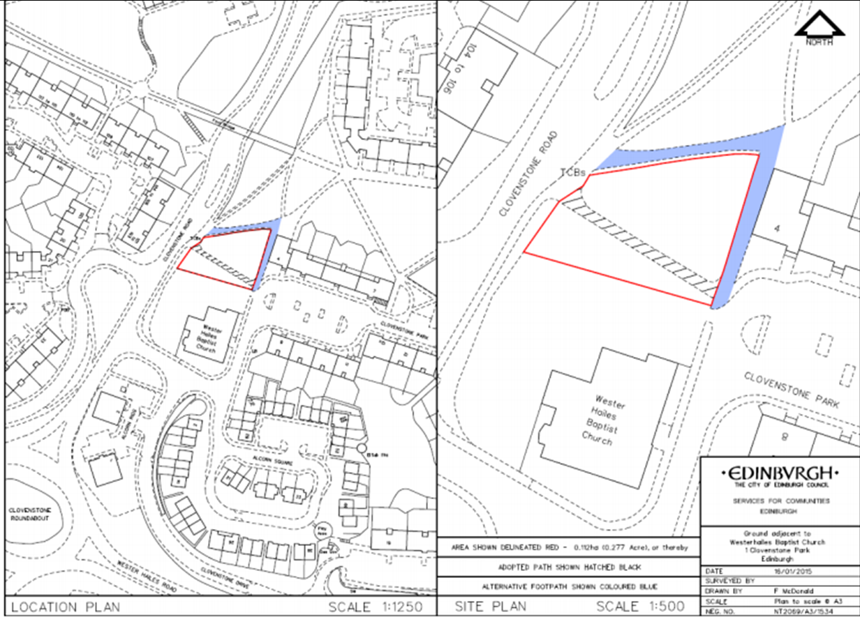 Plans for the extension discussed by Edinburgh Council, June 2015
