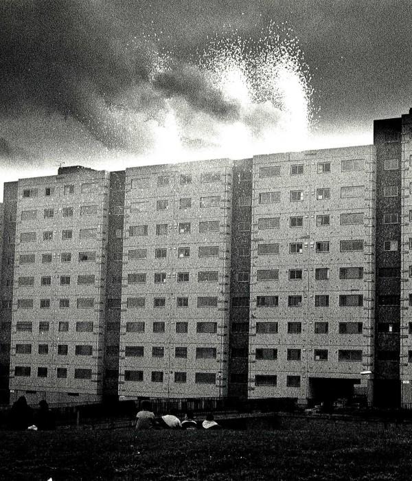 Demolition of high rise blocks at Hailesland