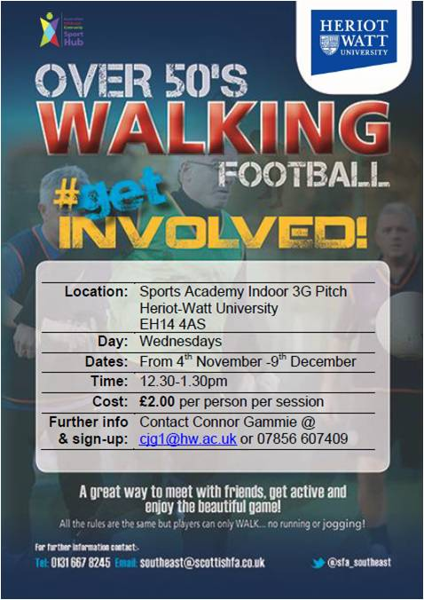 Walking Football Poster HWU
