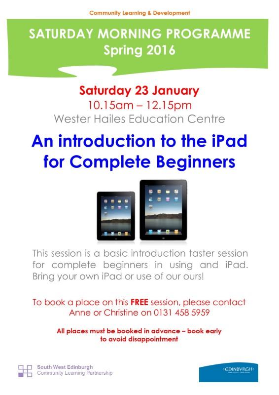 iPad session - 23.1.16
