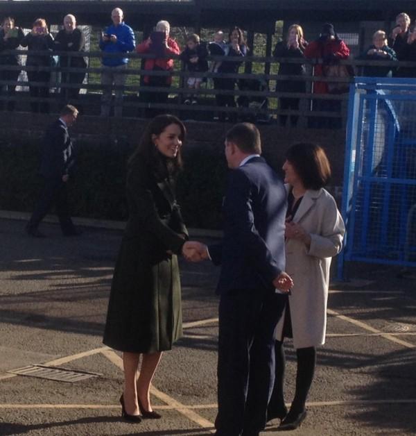 Her Royal Highness meeting headteacher Lewis Patterson. Photo taken by Edinburgh Council