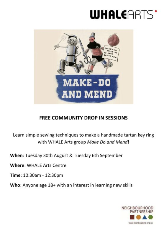 Make Do and Mend Community Drop In poster